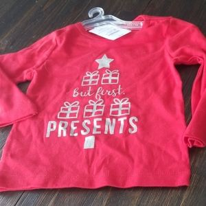NWT Christmas shirt 18 months girls